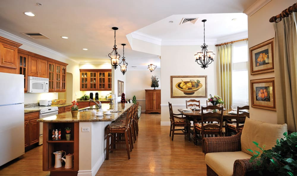 Country kitchen at Tequesta Terrace in Tequesta, Florida