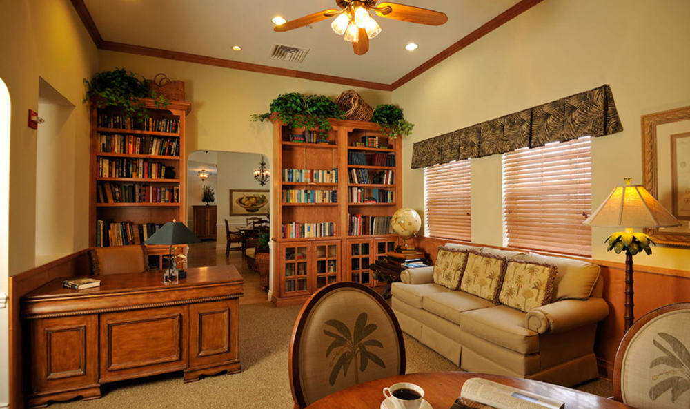 Library at Tequesta Terrace in Tequesta, Florida