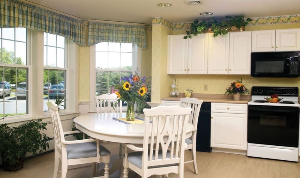Cozy kitchen at Valley Terrace in White River Junction, Vermont