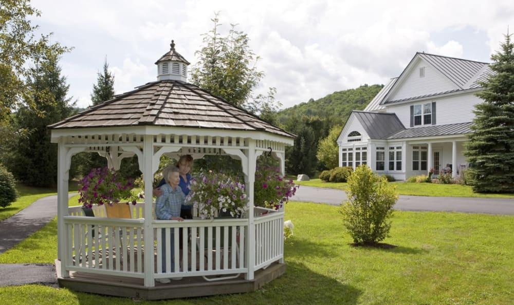 Lovely gazebo at Valley Terrace in White River Junction, Vermont