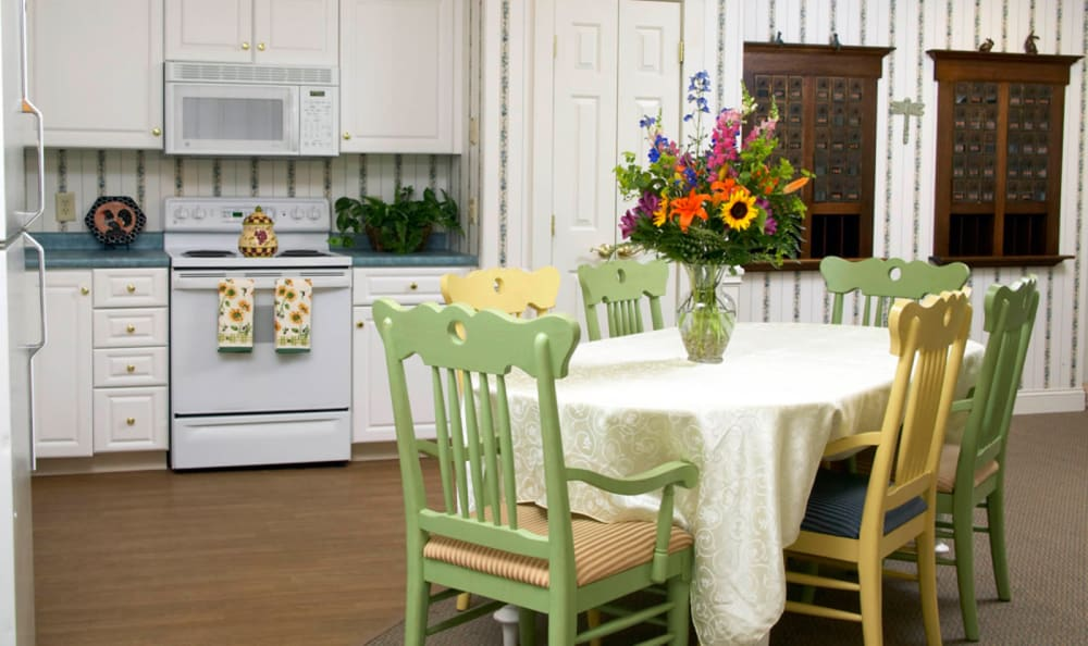 Bright and cozy kitchen at Wheelock Terrace in Hanover, New Hampshire