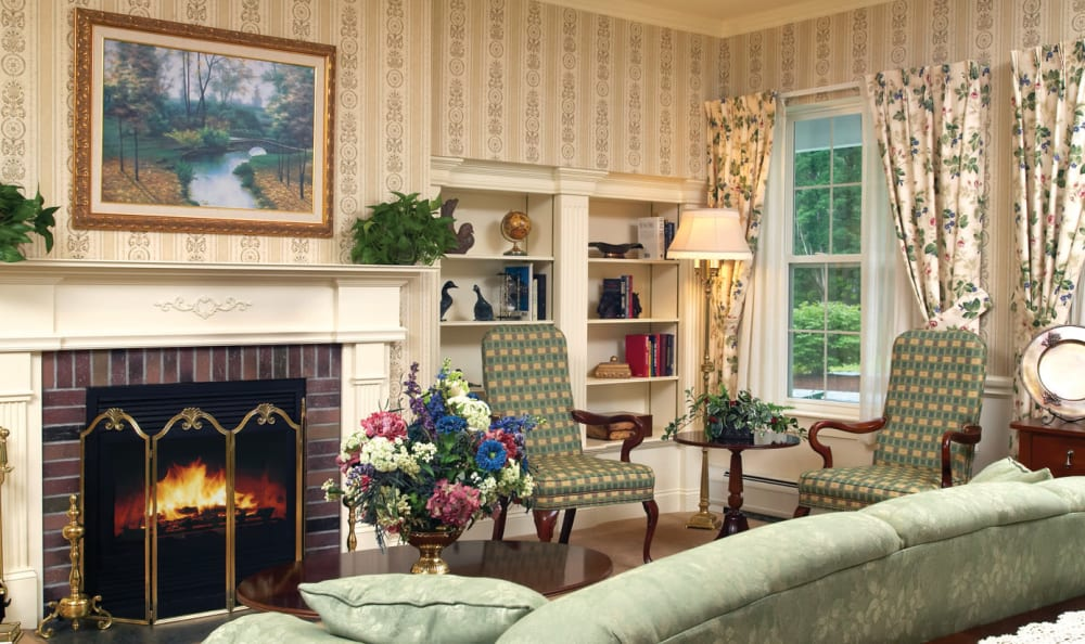 Fireplace at Windham Terrace in Windham, New Hampshire