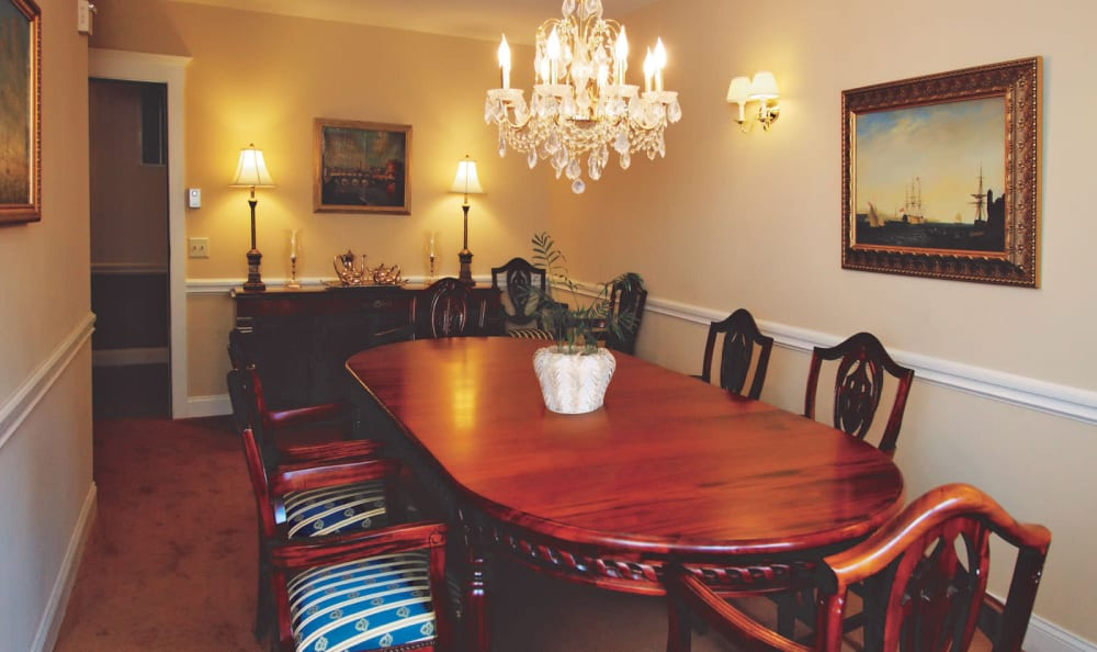 Private dining area at Woodstock Terrace in Woodstock, Vermont
