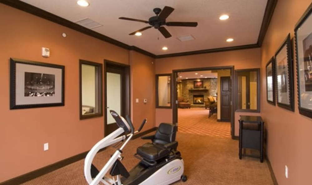 Fitness room at Armour Oaks Senior Living Community in Kansas City, Missouri.