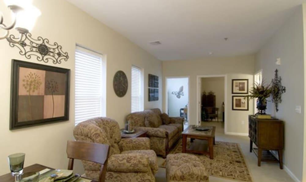 Resident living room at Armour Oaks Senior Living Community in Kansas City, Missouri.