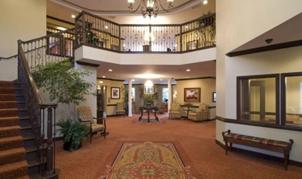 The grand entry at Armour Oaks Senior Living Community in Kansas City, Missouri.