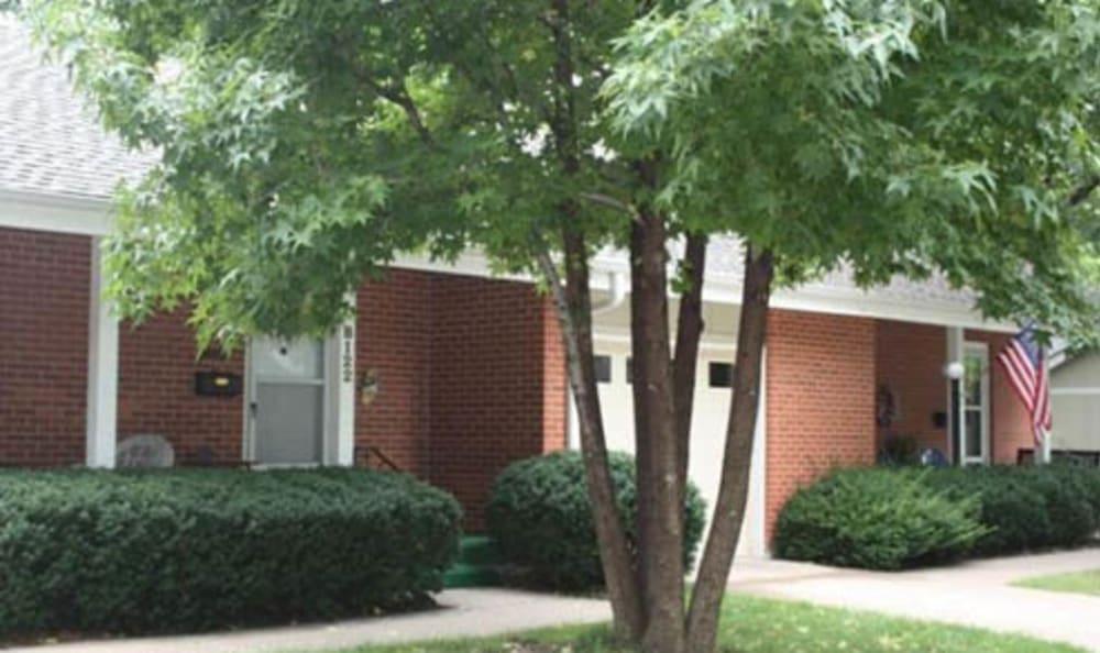 The garden villas at Armour Oaks Senior Living Community in Kansas City, Missouri.