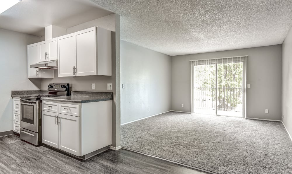 Kitchen at The Woodlands Apartments in Sacramento,CA