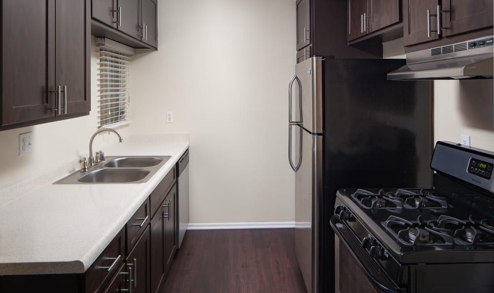 Brown kitchen renovation