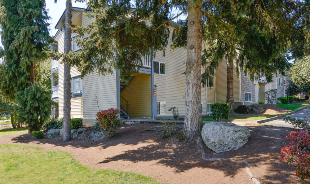Outdoor shot of Discovery Landing Apartment Homes in Burien, Washington