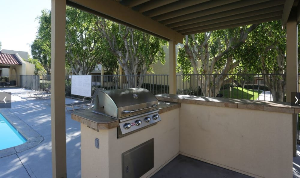 Poolside covered BBQ