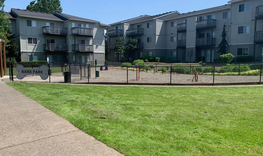 Dog park at Bridge Creek Apartments in Vancouver, Washington