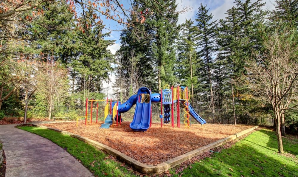 Onsite children's playground at Columbia Trails in Gresham, Oregon