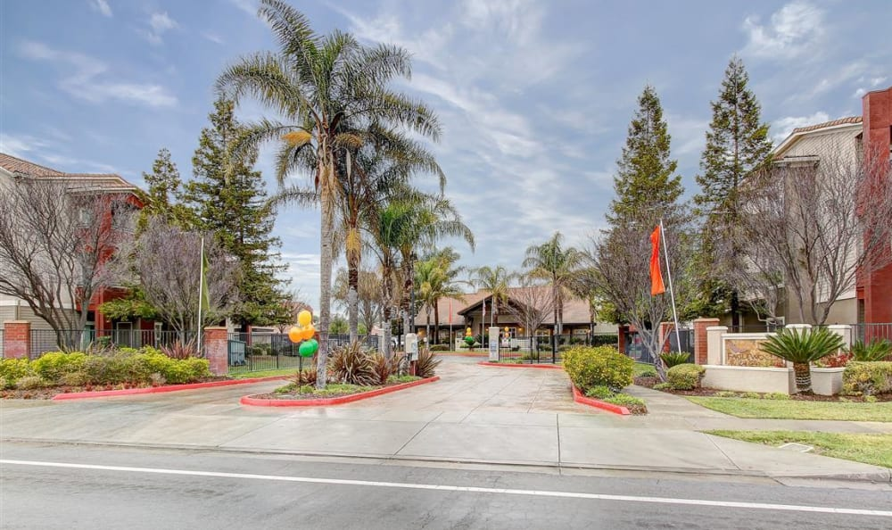 Entrance to our community at Eaglewood Apartments in Woodland, California