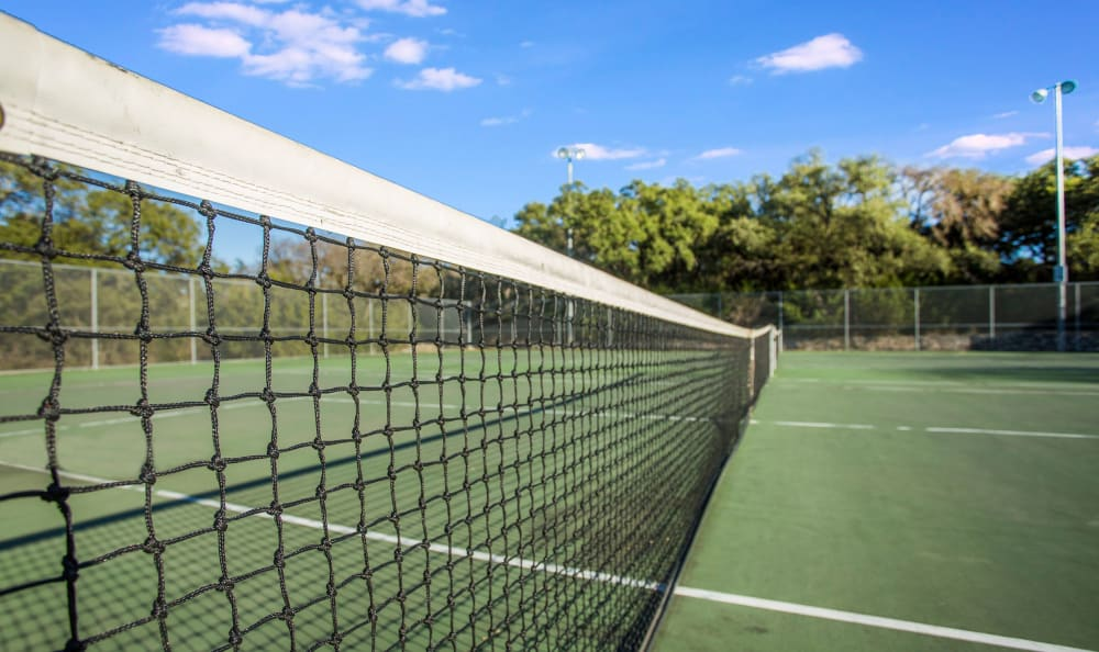 Onsite tennis courts at Riata Austin in Austin, Texas