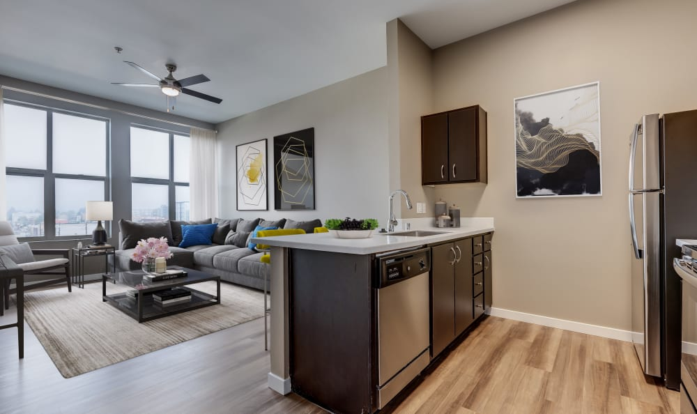 Gorgeous open-concept floor plans at Lumen Apartments in Everett, Washington