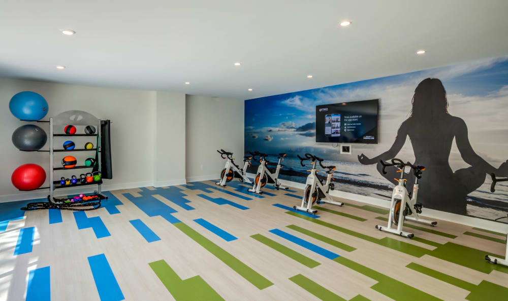 Resident gym studio at Watergate Pointe in Annapolis, Maryland