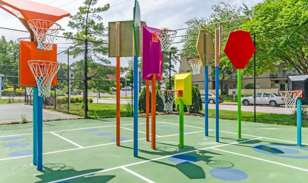 Onsite children's playground at Watergate Pointe in Annapolis, Maryland