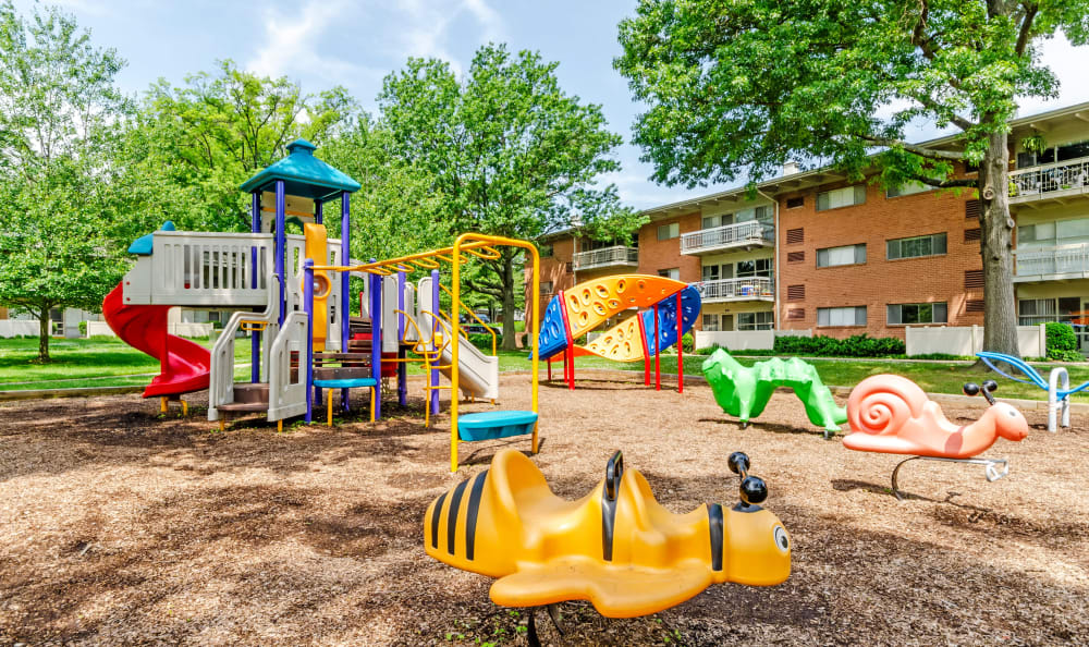 Tons of fun to be had at the resident playground at Watergate Pointe in Annapolis, Maryland