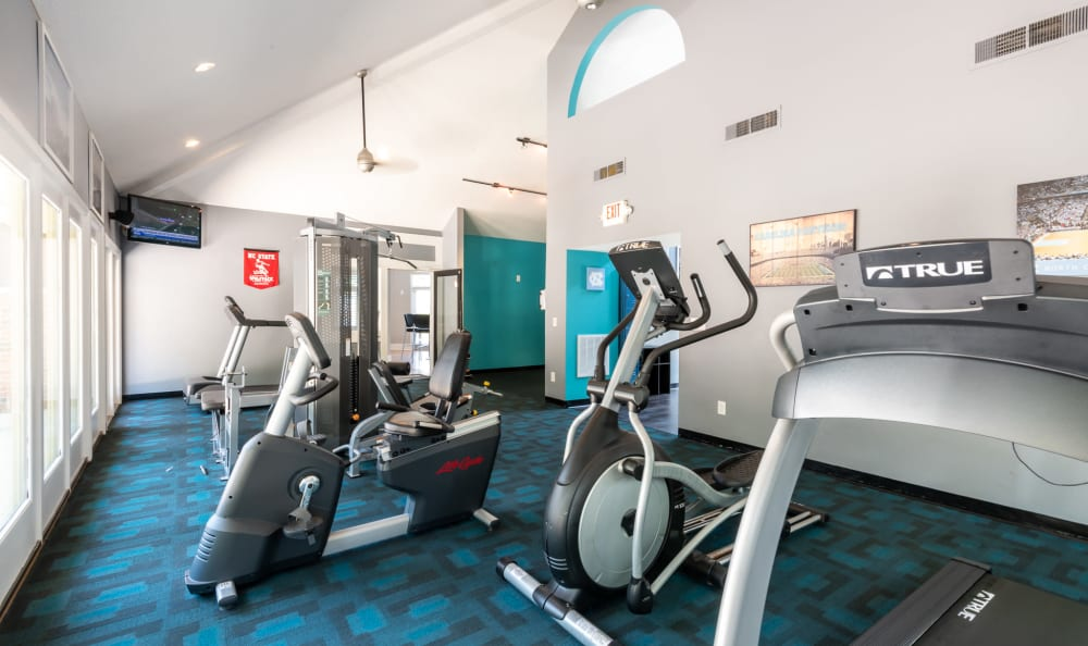 Six Forks Station offers a Fitness Center