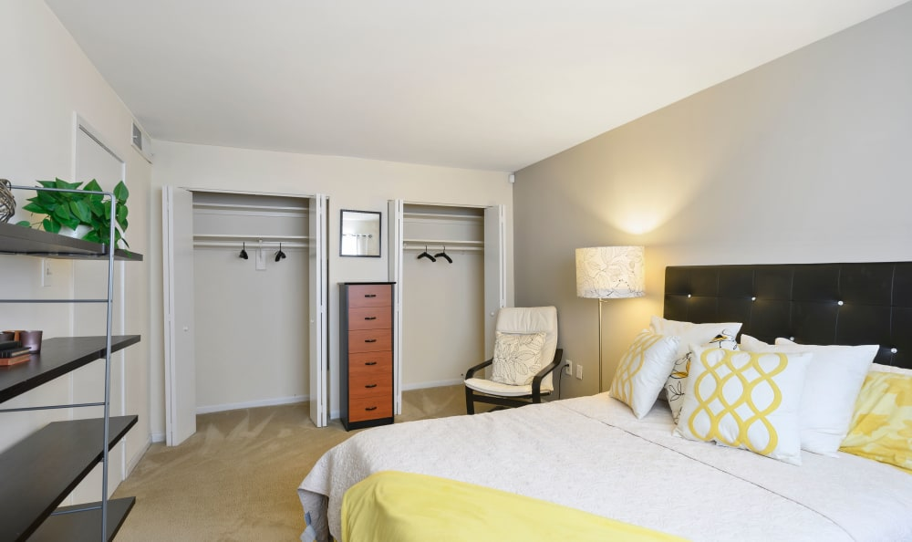 Large master bedroom with double closets at Capital Crossing in Suitland, Maryland