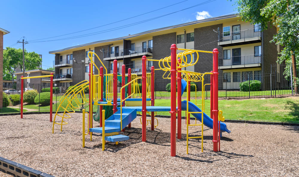 Children's playground with monkey bars at Capital Crossing in Suitland, Maryland