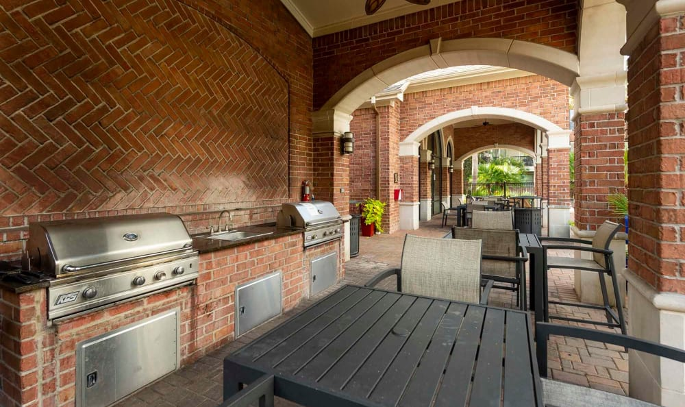 Outdoor grilling available at San Paloma Apartments