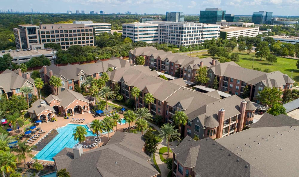 Aerial of San Paloma Apartments
