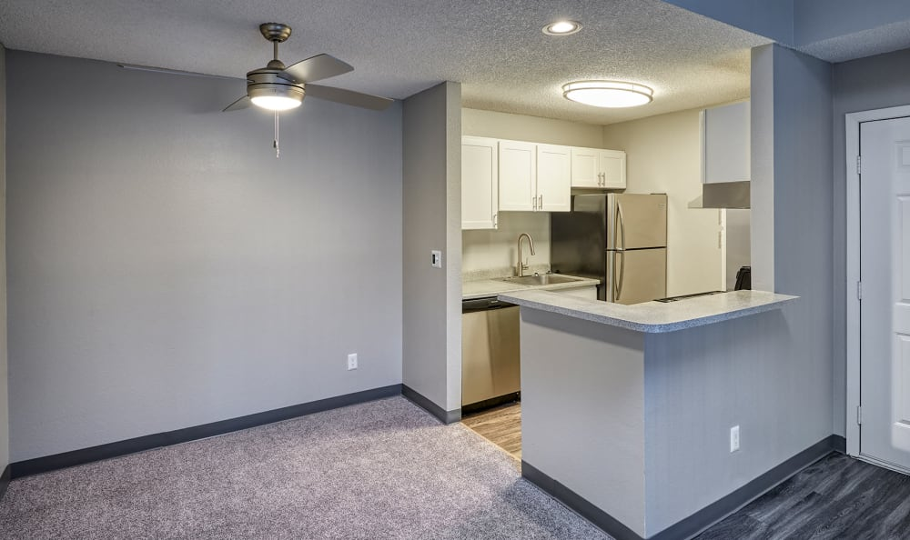 Kitchen at City Center Station Apartments in Aurora, Colorado