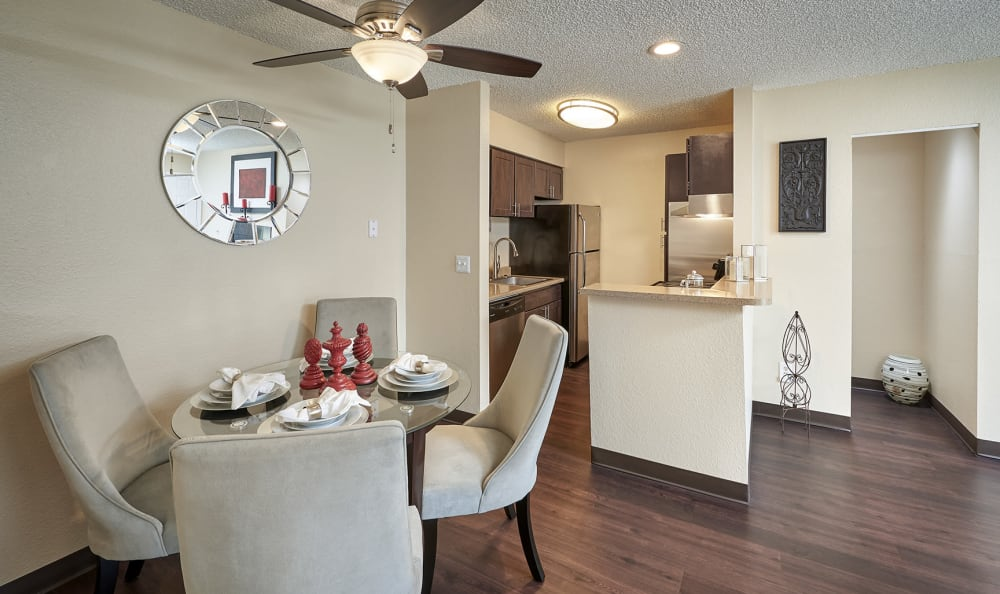 Dining Room at City Center Station Apartments in Aurora, Colorado