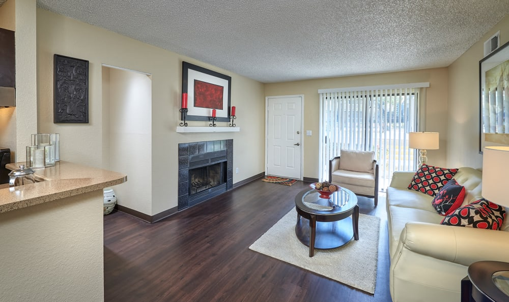 Living Room at City Center Station Apartments in Aurora, Colorado
