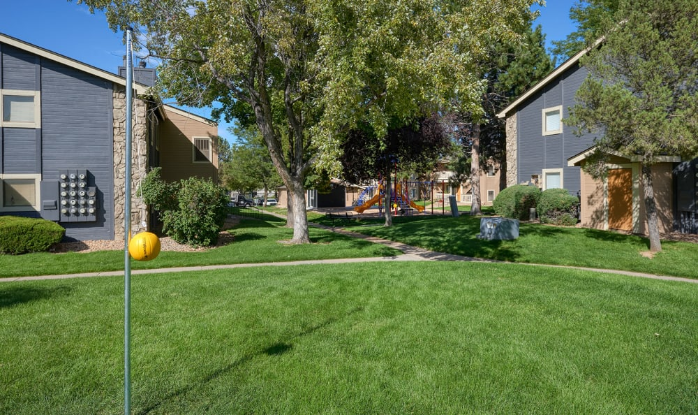 City Center Station Apartments in Aurora, Colorado offers tether ball