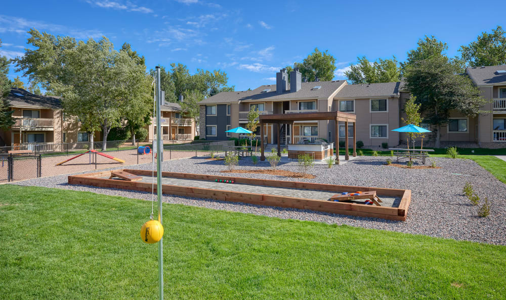 Tether-ball at City Center Station Apartments in Aurora, Colorado