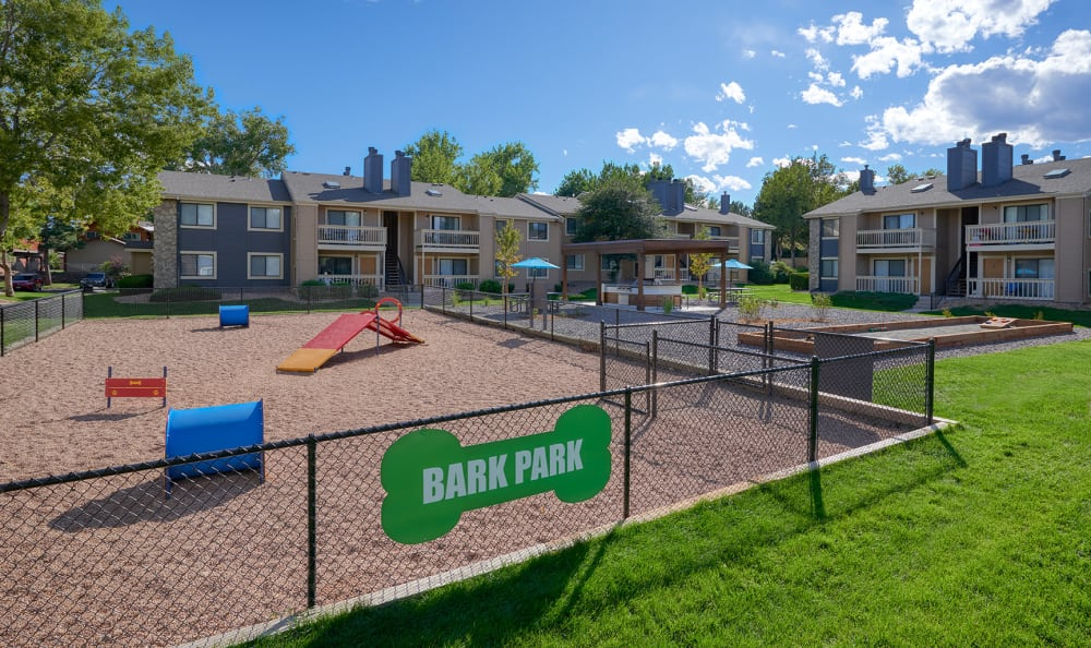 Dog Park at City Center Station Apartments in Aurora, Colorado