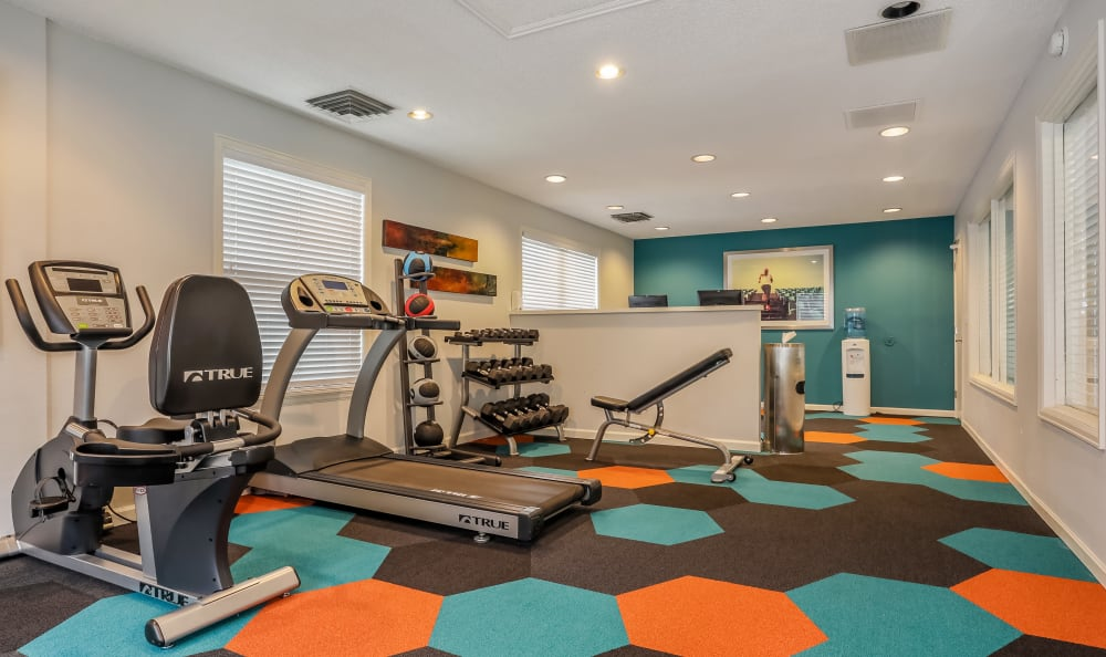 Fitness Center at City Center Station Apartments in Aurora, Colorado