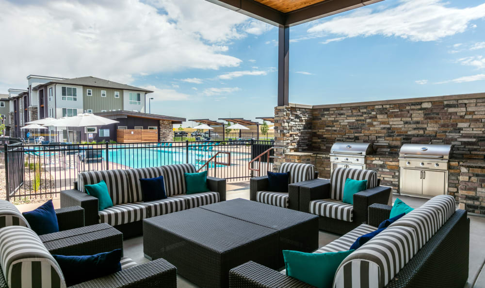 Exterior Lounge and BBQ Area at Strata Apartments