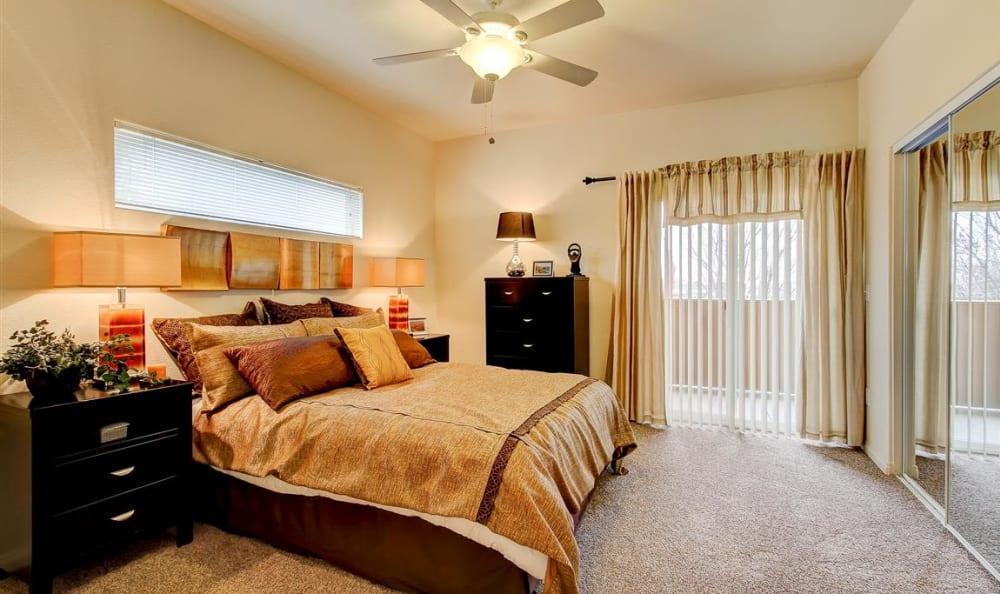 Bedroom at Sierra Oaks Apartments in Turlock, California