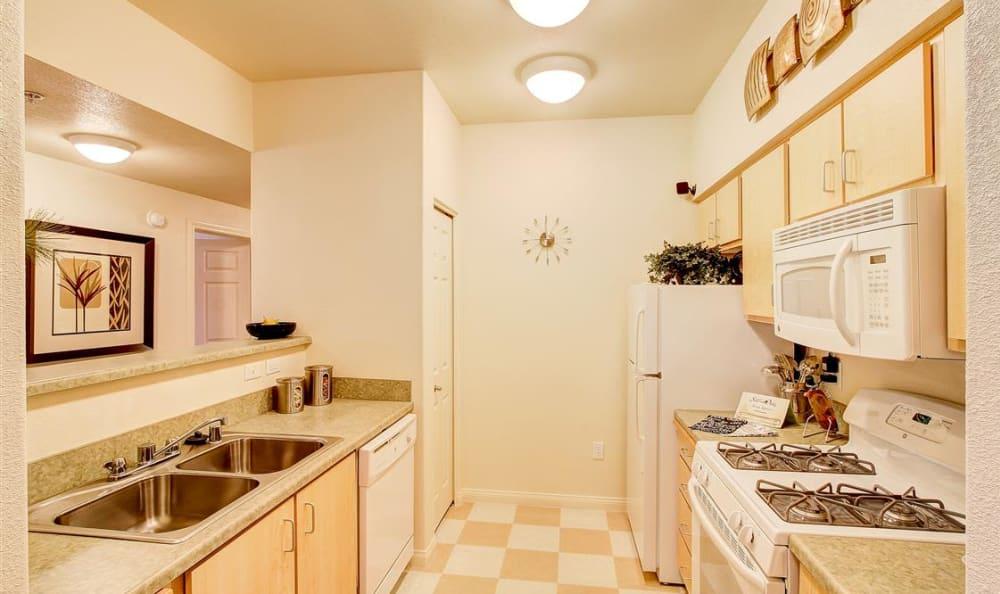 Kitchen at Sierra Oaks Apartments in Turlock, California