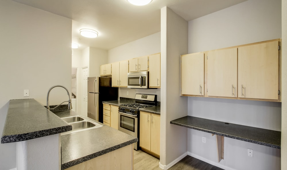 Kitchen at Eaglewood Apartments in Woodland, California
