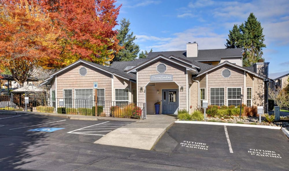 Rental Office Entrance at Discovery Landing Apartment Homes in Burien, Washington