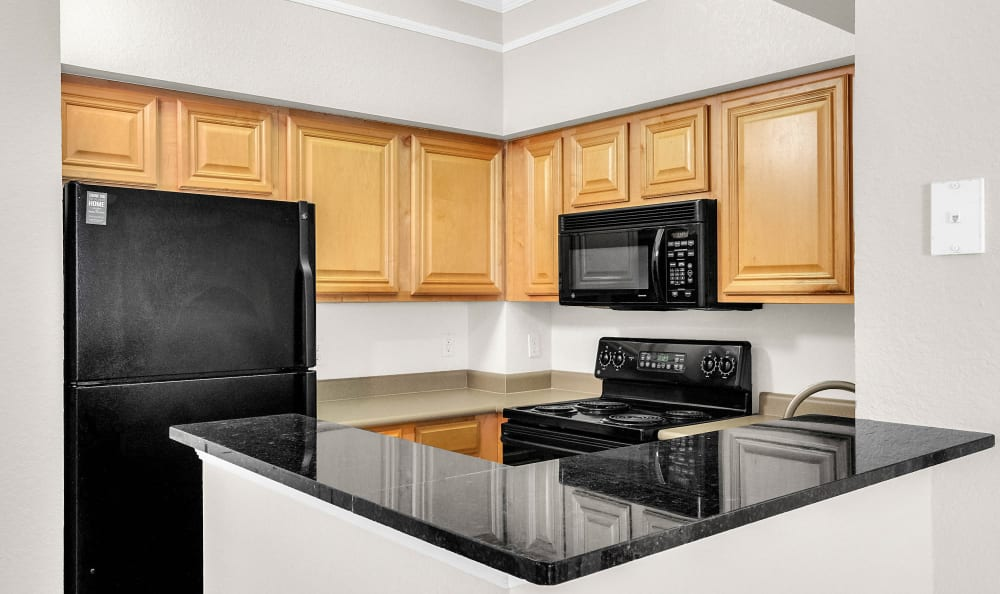 Classic Fixtures & Finishes Kitchen at The Estates at Park Avenue