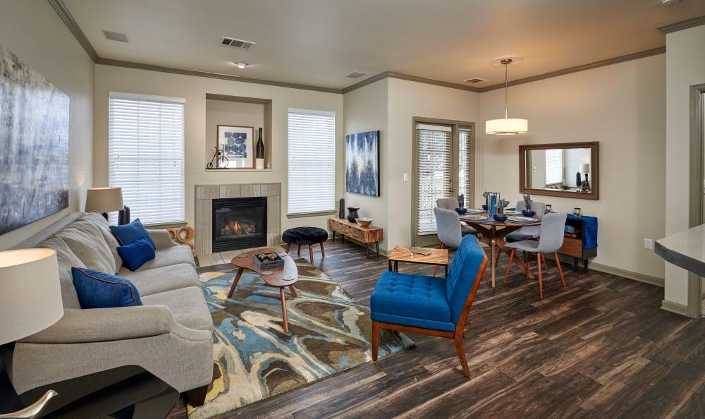 Model living room at Gateway Park Apartments in Denver