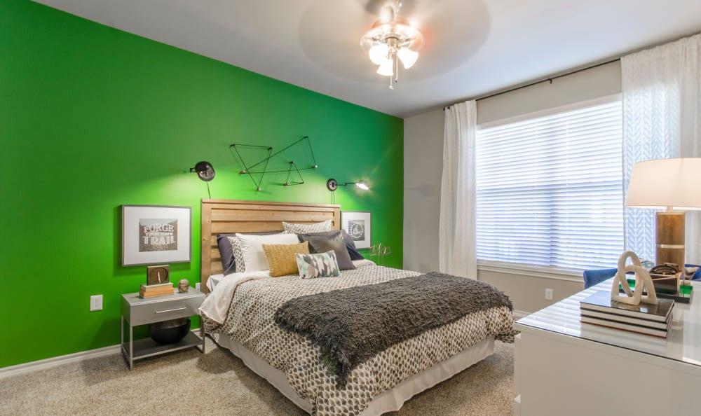 Cozy model bedroom at 2803 Riverside in Grand Prairie, Texas