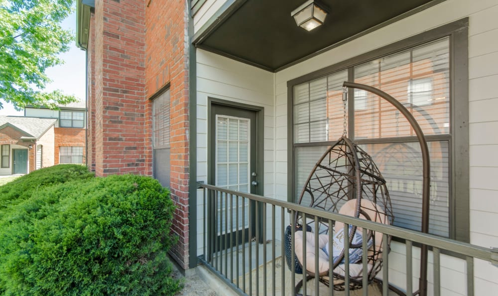 Beautiful and cozy balcony at 2803 Riverside in Grand Prairie, Texas