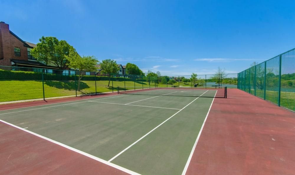 Tennis court at 2803 Riverside in Grand Prairie, Texas