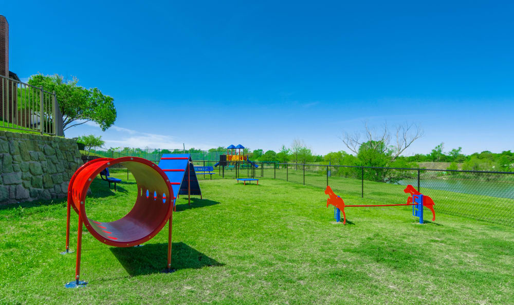 Obstacle course and doggie park at 2803 Riverside in Grand Prairie, Texas