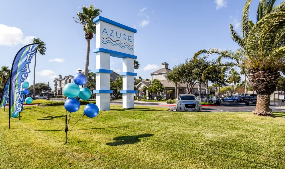 Open site at Azure Apartments in Corpus Christi, Texas