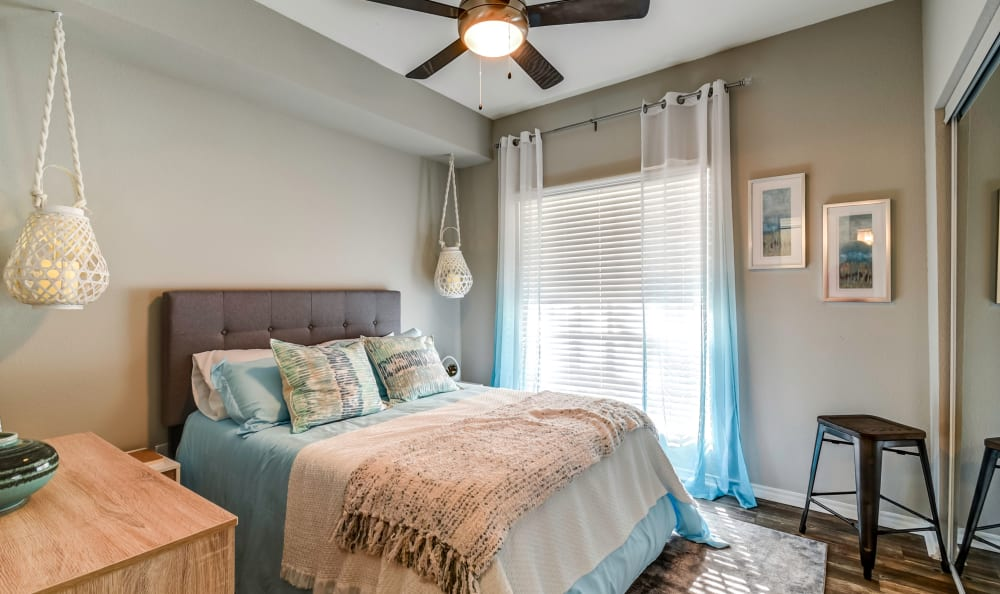 Huge second bedroom at Azure Apartments in Corpus Christi, Texas