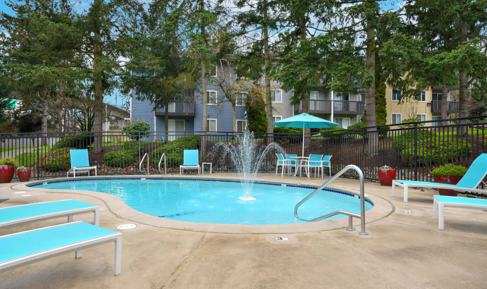 Swimming Pool at The Boulevard at South Station Apartment Homes in Tukwila, Washington