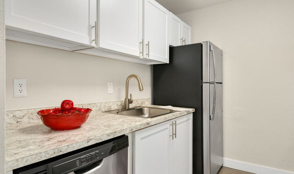 Kitchen at The Boulevard at South Station Apartment Homes in Tukwila, Washington